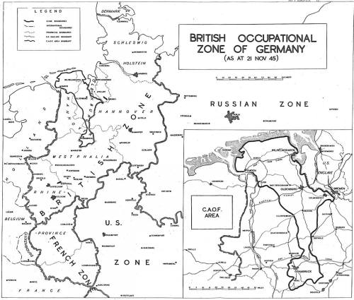 History Of BAOR - Germany map us army bases